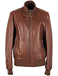 CL - Gucci Brown Nappa Leather Bomber Jacket Coat Size 58 / 48R U.S.