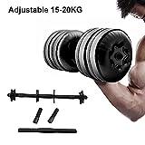 Desirabely Wassergefüllte verstellbare Hanteln Gewicht 20 kg Umwelttraining Arm Muskelkraft Fitness...
