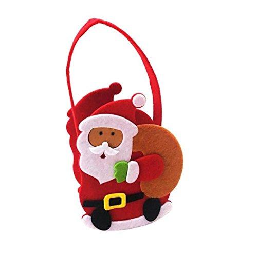 eutel, Handtasche, nichtgewebte Weihnachtsabend-Kind-Süßigkeit-Beutel-Geschenk-Beutel , C (Mini-filz-weihnachts-strümpfe)