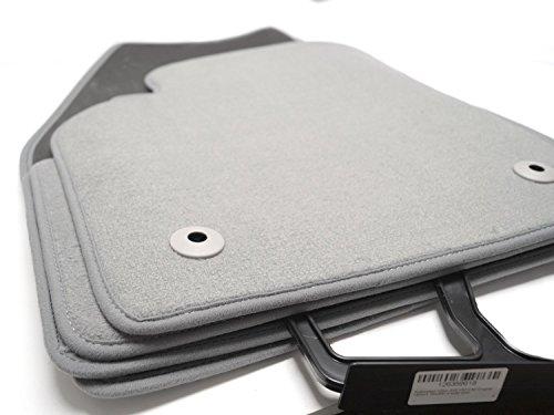 Tappetini in velluto qualità originale 4pezzi grigio
