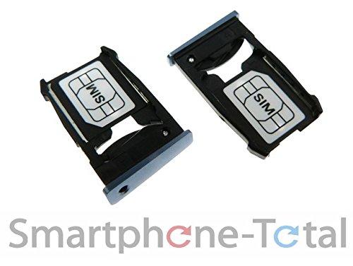NG-Mobile Simkarten SIM Karten Try Halter Schlitten Einschub für Google Nexus 6 blau