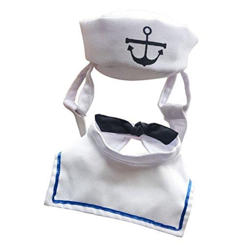 Kostüm Raffinierte - POPETPOP Hunde Kostüm Seemann Kostüm Matrose mit Mütze für Haustiere