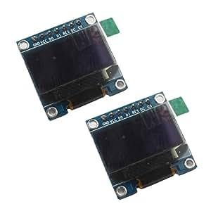 "DAOKAI® 2PCS 0,96 Blanc ""I2C IIC SPI Serial 128X64 LCD OLED Module d'affichage LED pour Arduino"