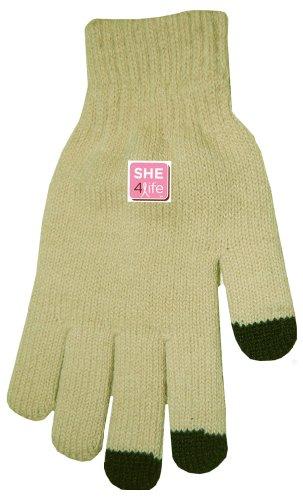 Boss Tech Products Brustkrebs Bewusstsein Touchscreen Handschuhe für alle Touchscreen Elektronische Gerät hautfarben -