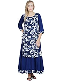 Patrorna Double Layer A Line Royal Blue Kurti Dresse For Women And Girls
