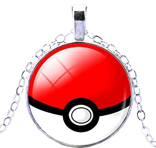 te Pkmn - Pokemon Go Halskette Poke 'Pokeball Ball (Rot - Weiß) ()