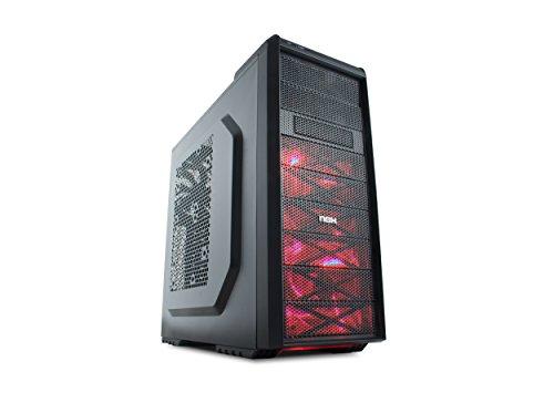 NOX Coolbay SX Midi-Tower Negro - Caja de ordenador (Midi-Tower, PC, 1x 120 mm, ABS sintéticos, SECC, 1x 120 mm, Fondo)