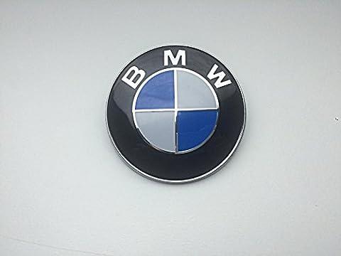 BMW Emblem Motorhaube 82mm blau & weiß Logo E36E39E46E60E70F10X5X6