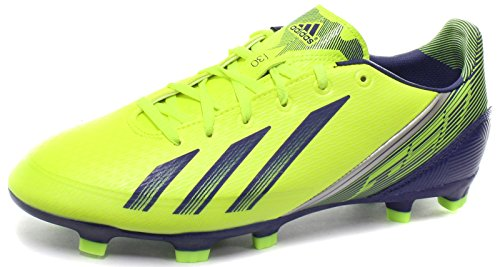 Adidas F30 TRX FG J - Kinderfußballschuh gelb/ weiß Electr/Herblu/Metsil