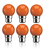 #1: Syska B22 0.5 Watt LED Bulb (Pack of 6, Orange)
