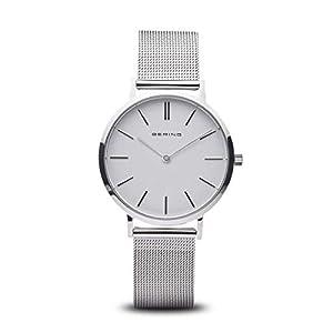 BERING Damen Analog Quarz Uhr mit Edelstahl Armband 14134-004