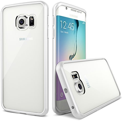 Galaxy S6 Edge Case, Verus [Clear Drop Protection] Samsung Galaxy S6 Edge Case [Crystal Mixx][White] Premium Slim Fit Dual Layer Transparent Hard Case - Verizon, AT&T, Sprint, T-Mobile, International, and Unlocked - Case for Samsung Galaxy S6 SEarly 2015 Model