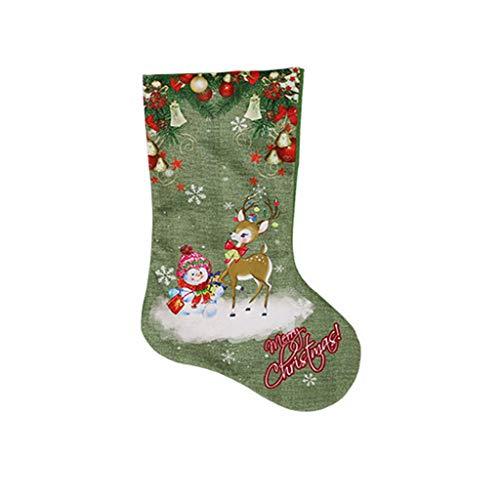 Wiffe DIY Grüne Weihnachten Strumpf Geschenk Halter Santa Claus Halter Taschen Für Home Weihnachten Party Weihnachten Baum Kinder Geschenke Dekoration (#3)