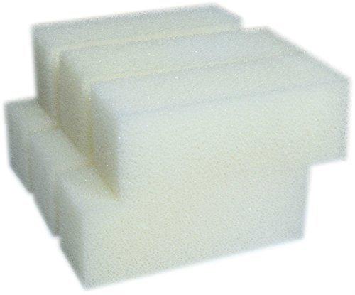 LTWHOME Compatible en Mousseux Filtration Tapis Convient pour Aqua Clear 110 / 500 AquaClear (Paquet de 6)