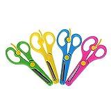 Hemore forbici per bambini disegni di bambini con punte arrotondate anti-pinch cesoie studenti Paper cutter forbici per fai da te artigianale Projectsrandom color cancelleria per ufficio