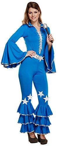 Disco Girl Ladies Waterloo Fancy Dress Costume. Size 10-14.