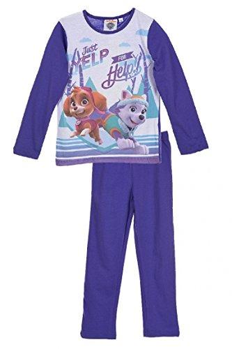 Nickelodeon Paw Patrol Mädchen Lange Pyjamas / Nachtwäsche (Lila , 6 Jahre)