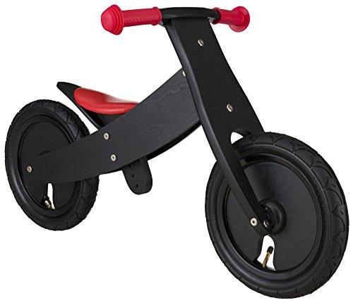 BIKESTAR® Mitwachsendes Kinderlaufrad für sichere und sorgenfreie Spielfreude ab 2 Jahren ★ 12er Natur Holz Edition ★ Teuflisch Schwarz