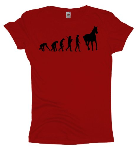 Ma2ca - Evolution - Pferde Girlie T-Shirt Red