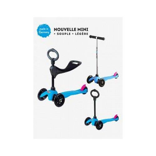Preisvergleich Produktbild Micro mitwachsender Kinderroller Mini Micro 3in1 in Neon Blau