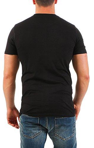 Herren T-Shirt mit V-Ausschnitt im 2er Pack Chlorfrei  Nr. 135 lang - 2