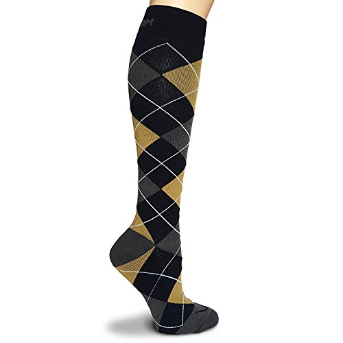 Argyle Graduated Compression Socks for Flight Travel Sports Nurse Pregnancy Arthritis Varicose Veins, Edema Shin Splints Running Nursing, Leg Pain Relief-Recovery, Boost Circulation, Reduce Swelling