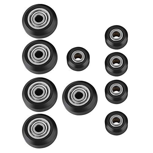 Eboxer Plastikrolle Passives Rad Zubehör für 3D-Drucker (Innenloch 5 mm) 5 große Räder + 5 kleine Räder