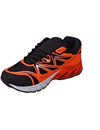 AER RED BLACK SNAKE STYLE RUNNING SPORTS SHOES