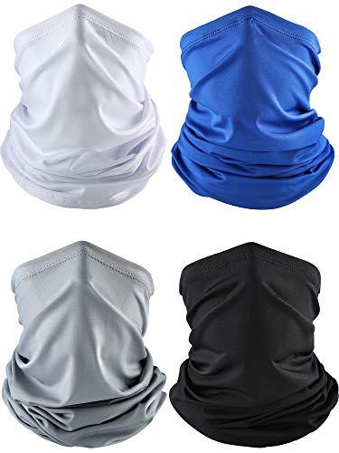 4 Piezas Bandana Verano Mascara Facial Cuello Delgado