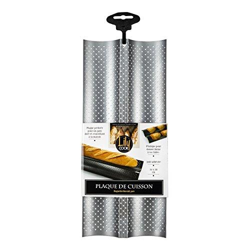 lily-cook-kp5300-plaque-pour-2-baguettes-tuile-argent-16-x-38-cm