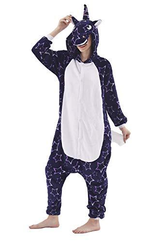 Fasching Onesie Jumpsuit Kostüm Tier Schlafanzug Erwachsene Einhorn