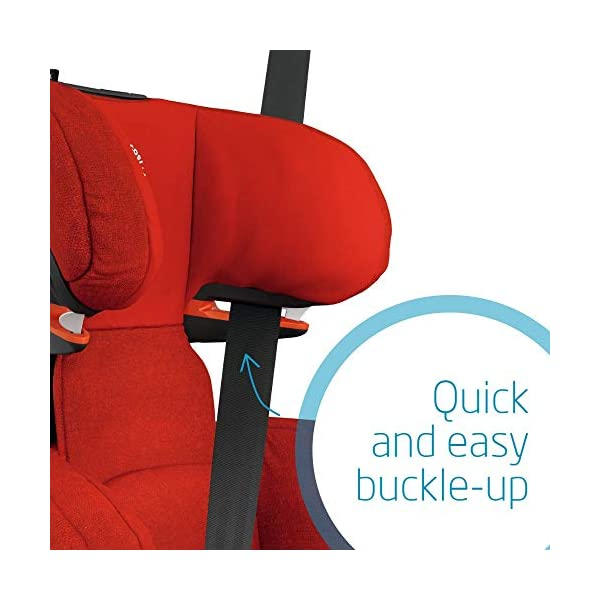 Maxi-Cosi RodiFix AirProtect Child Car Seat, ISOFIX Booster Seat, Extra Protection, 3.5-12 Years, 15-36 kg, Nomad Red Maxi-Cosi Outstanding side impact protection - with the combination of patented air protect technology Patented air protect technology in headrest - the risk of head and neck injuries are reduced up to 20% Quick and easy to buckle your child up with the 'easy-glide' system and clear belt routing 5