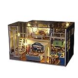 Conquror Puzzle 3D en Bois de Maison de Meubles de Maison Miniature en Bois de Bricolage LED décorer des Cadeaux créatifs Cadeau créatif Art Bricolage Chalet Artisanat en Bois Jouet