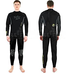 CF SIGNATURE FULL ADULT WETSUIT long by Mikes Diving (BLACK, 4XL)