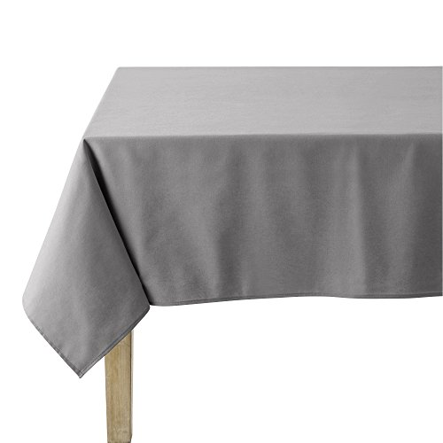 Coucke Nappe carrée Unie, Coton, Galet, 180x180 cm