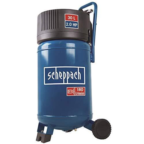 Scheppach Kompressor HC30V (1500 Watt, 30 L, 10 bar, Ansaugleistung 180L/min, ölfrei)