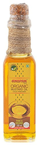 Anupam Organic Mustard Oil cold pressed, 100 ml  available at amazon for Rs.99