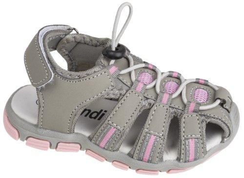 Kinder Trekkingsandalen, mit Klettverschluss, grau/rosa, Gr. 35