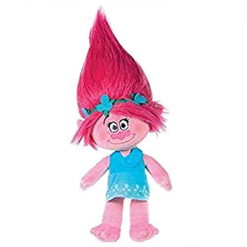 Trolls - Plüsch Princess Poppy 37cm, rosa Haaren - Qualität super soft