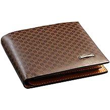 lujiaoshout Portafoglio in Pelle di Alta qualità Mens Brown Genuine con Il  Supporto della Carta di 6ee63f74548
