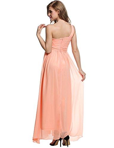 CRAVOG Elegante Abendkleider Damen Partykleider Lang Eine Schulter ...