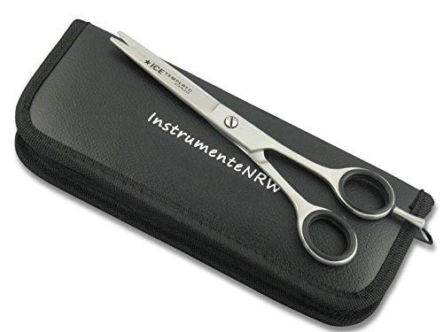 Premium Friseurschere Haarschere mit Mikroverzahnung InstrumenteNRW oder Solingen mit Aufbewahrungs-Etui (Nr.11 = 5 Zoll 2 x Mikroverzahnt) -