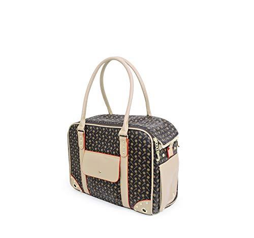 LLYU Haustier Tasche Handtasche Fluggesellschaft genehmigt Reisetasche Handtasche Käfig Zwinger Tasche Haustier Reisen (Farbe : Brown, größe : Tuba) (Fluggesellschaft Genehmigt Hund Zwinger)