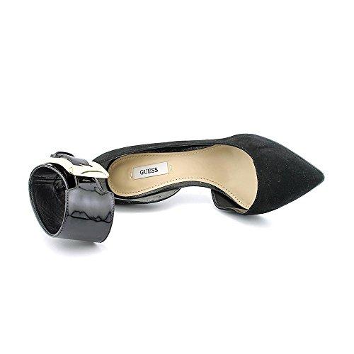 Indovinate Adal Open Toe sandali in camoscio Black