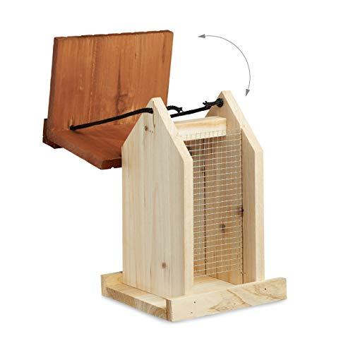 Relaxdays Vogelfutterhaus aus Holz - 5