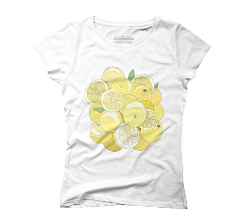 Fresh Lemon Women's Graphic T-Shirt - Design By Humans White