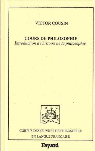 Cours de philosophie : Introduction à l'histoire de la philosophie
