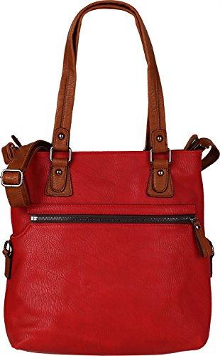 Twinbag sac 2 en 1 Rouge - 607 rot / cognac