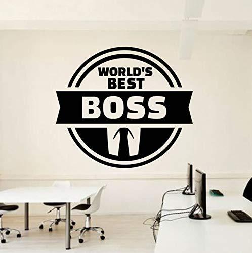 Hwhz 64 X 57 Cm Office-Zitat Der Weltweit Beste Chef Inspire Office Dekoration Motivation Vinyl Aufkleber Wandbild Einzigartiges Geschenk Für Chef