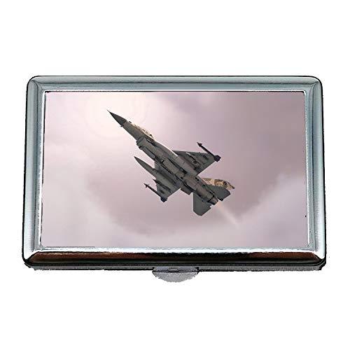 Zigaretten Box Kostüm - Militärflugzeuge Bilder kostenlos, Zigaretten-Aufbewahrungsbox/Box, Kampfpilot Kostüm, Visitenkartenetui Visitenkartenetui Edelstahl